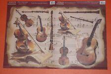 Papier découpage technique serviette (thème: instrument de musique) 48X33cm