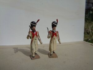 vintage CBG Mignot, Napoleonic Dutch Grenadier Guard sappers 2x lead soldier, Az