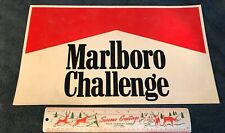 "Marlboro Challenge 1980s HUGE MAGNET Indy 500 CART 18""x10"" size NICE Andretti"