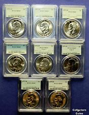 1971D - 1978D  PCGS65 Eisenhower Gem BU Complete 8 Coin Denver Set  at Wholesale