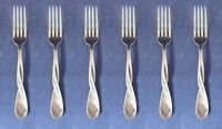 SET OF SIX - Oneida Stainless  Flatware AQUARIUS (GLOSSY) Dinner Forks NEW