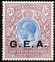British G.E.A.1921 blue/dull-purple 5r multi-script mint SG68