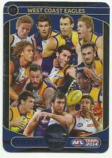 2014 TEAMCOACH SILVER CHECKLIST WEST COAST EAGLES 17 CARD FREE POST