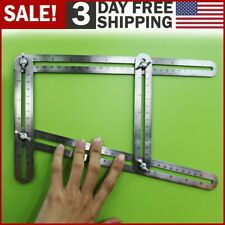 Heavy Duty Stainless Steel Angleizer Multi Angle Measuring Ruler Template Tool