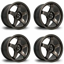 "4 x Rota GTR Drift Gunmetal Alloy Wheels 19x9""|ET42|5x108 PCD|73mm Centre Bore"