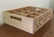 SOCK HOLDER Rustic Timber Tray Wood Dividers 12 Compartments French