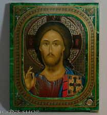 """Jesus Christ Russian Icon in frame around 10x12 cm or 4""""x4.7"""""""