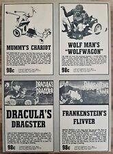 VINTAGE 1966 AURORA MONSTER DRACULAS DRAGSTER WOLFWAGON FLIVVER ADVERTISEMENT