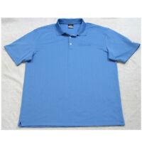 Nike Golf Blue Polyester Men's Polo Shirt Short Sleeve Man's Dri Fit 2XL XXL