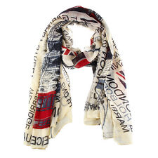 Union Jack Scarf London Souvenir Gift Soft Oversized Fashion Scarves