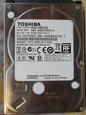 "320 GB Toshiba MQ01ABD032 AX001A SB5 25OCT2012 2,5"" disco rigido PCB OK"
