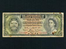 British Honduras(Belize):P-31c,10$,1971 * Queen Elizabeth II * RARE *