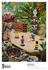 World Cup Brazil Art soccer 2014 Poster Print Oscar Oiwa Playing Soccer at Noon