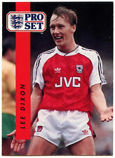 Lee Dixon Arsenal #3 Pro Set FOOTBALL 1990-1 TRADE card (C363)