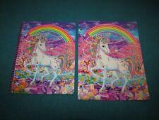 2pc Lisa Frank RAINBOW MISCHIEF UNICORN  Sparkle Glitter Folder& Spiral notebook