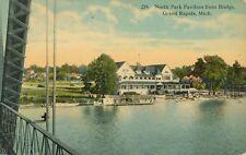 GRAND RAPIDS MI – North Park Pavilion from Bridge - 1914