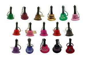 Mini Keychain Bell ( Ring for Gin, Tea, Coffee, Prosecco, Beer, Hug, Kiss etc )