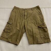 "*LOT OF 2* Iron Co 36 x 11.5"" Khaki 100% Cotton Twill Cargo Shorts"