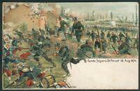 Feldpostkarte-als Bücherzettel, Litho mit Garde Jäger b.St.Privat 18.8.1870