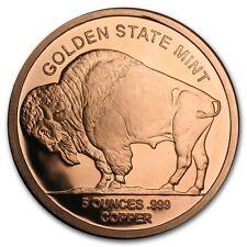 5 oncia 999 Rame Medaglia di bronzo Moneta American Buffalo Indian Testa NUOVO