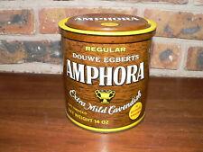 Vintage Douwe Egberts Amphora Extra Mild Cavendish Tobacco Tin~14oz Can w/Lid