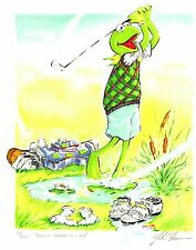 "Jim Henson Muppets Kermit Golf Lithograph ""Play It Where It Lies"""