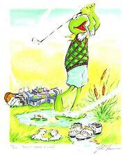 "Jim Henson Muppets Kermit Golf Lithograph ""Play It Where It Lies"""