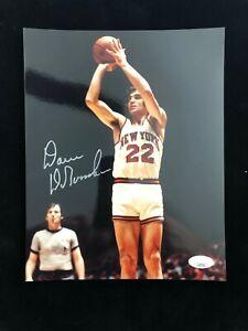 Dave DeBusschere Signed Autographed Photo JSA NBA Champion New York Knicks HOF83