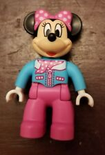 "LEGO DUPLO MINNIE MOUSE FIGURE Disney Blue Shirt 2.5"" Rare Great Condition"