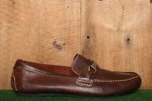 COLE HAAN 'Somerset' Brown Leather Bit Loafers Driving Shoes Men's Sz. 12M