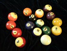 Set of Used Pool Balls Billiard Balls with 8 Ball