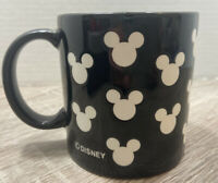 Vintage Disney Black & White Mickey Mouse Silhouette Ears Logo Ceramic Mug