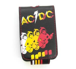 AC/DC Angus Black Faux Leather Ipod Mp3 Player Case Holder New