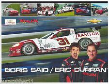 2013 BORIS SAID & ERIC CURRAN #31 TEAM FOX WHELEN GRAND AM ROLEX SERIES POSTCARD