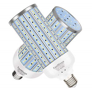 2 Pack 500W Equivalent LED Corn Light Bulb 5500 Lumen 6500K 60W Large Area Cool