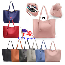 Women Synthetic Leather PU Casual Handbag Shoulder Ladies Purse Satchel Tote Bag