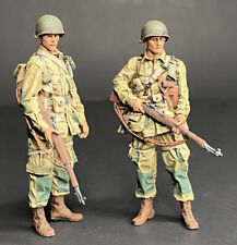 1/35 - WWII - US Airborne - 2 Resin Figures - Painted