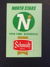 1979-80 Minnesota North Stars Hockey Pocket Schedule Original Schmidt Beer