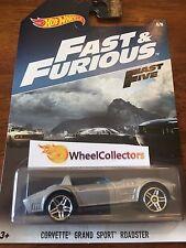 Corvette Grand Sport Roadster * FAST & FURIOUS Hot Wheels Walmart Only