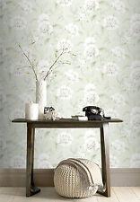 Wallpaper Rasch - Luxury Boutique Floral / Flowers Design - Soft Green - 226157
