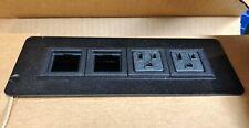 Byrne Axil Z Furniture Power Distribution Black Blank Outlet Corded #9858