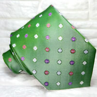 Cravatta uomo seta Italia verde casual business Jacquard evento formale