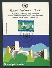 UN Vienna MK 1979 Danube Park UN building maximum Card Carte Maximum Card MC d5190