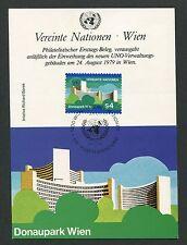 UNO WIEN MK 1979 DONAUPARK UN GEBÄUDE MAXIMUMKARTE CARTE MAXIMUM CARD MC d5190