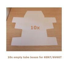 10x Scatola bianca per valvole tipo 6V6GT/6SN7