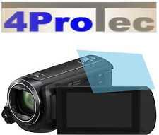 4x Hartbeschichtete Displayschutzfolie AR für Panasonic HC-V380 Displayfolie