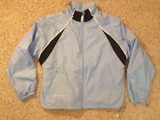 New Balance NB Light Blue Black Lightweight Women s Track Running Jacket  Size L cf352bd83bd48