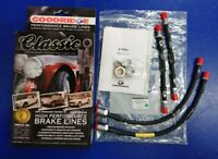 Classic Mini Goodridge Braided FR + RR Brake Hoses 1984> - SAH0704-4P-VB GENUINE