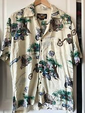 Men's Harley Davidson Short Sleeve Button Front Hawaiian Shirt Size M