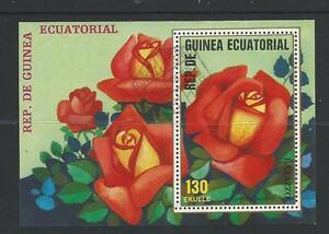 Roses  Mini Sheet  1 Red Rose  stamp  Used  Full Gum on Rear Value Here